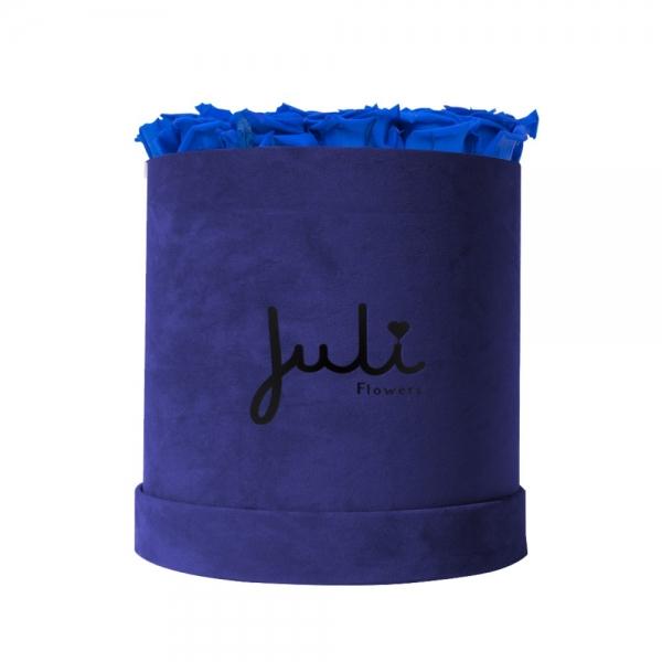 Blau Medium Velvet Blau - rund