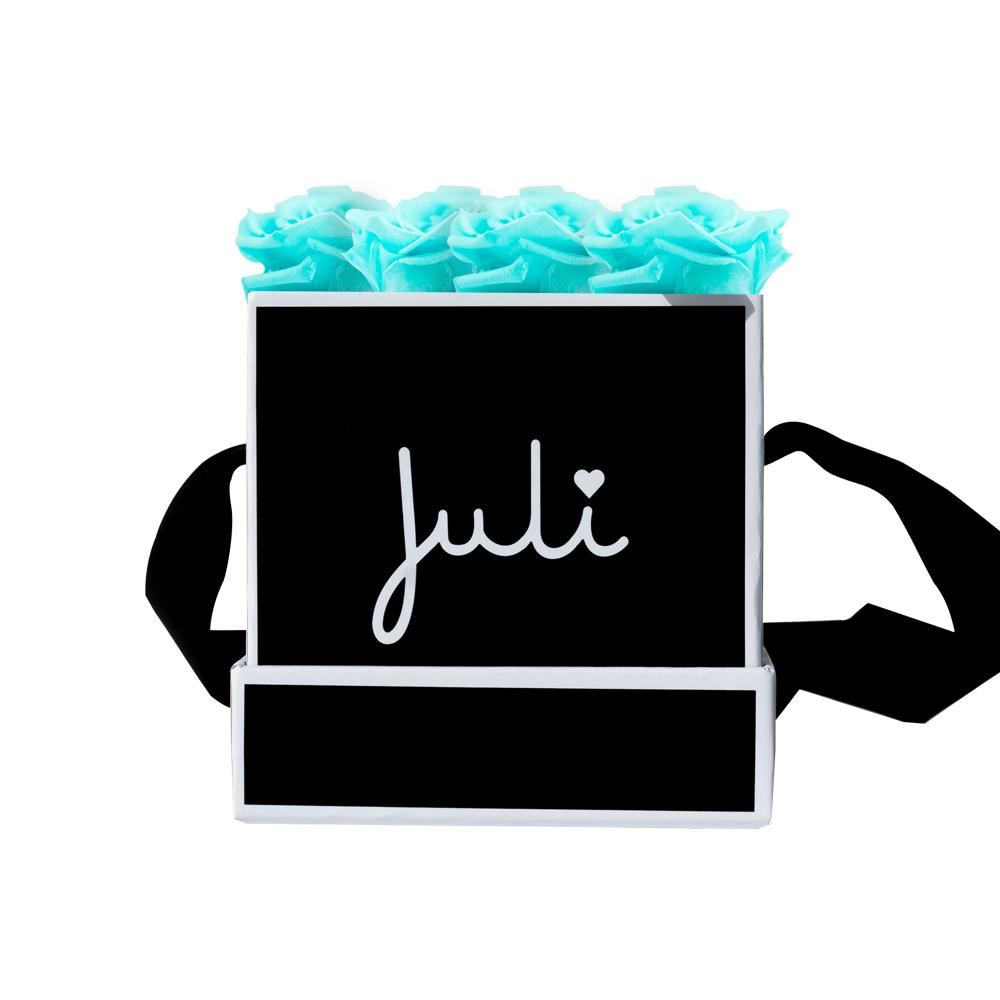 Juli Friday Box türkis xs schwarz quadrat