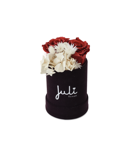 Rot Hortensie - Xs velvet schwarz/lila rund
